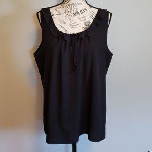 Black LOFT sleeveless scoop neck blouse